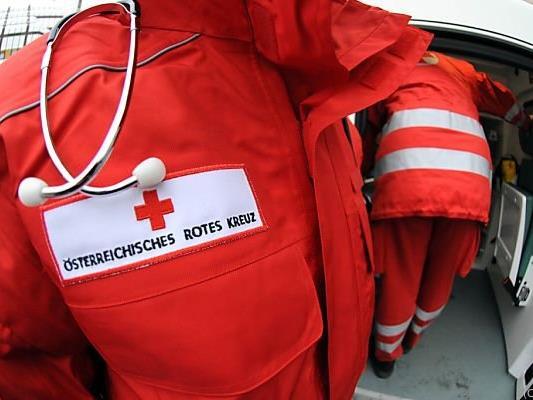 Das Rote Kreuz versorgte das Opfer