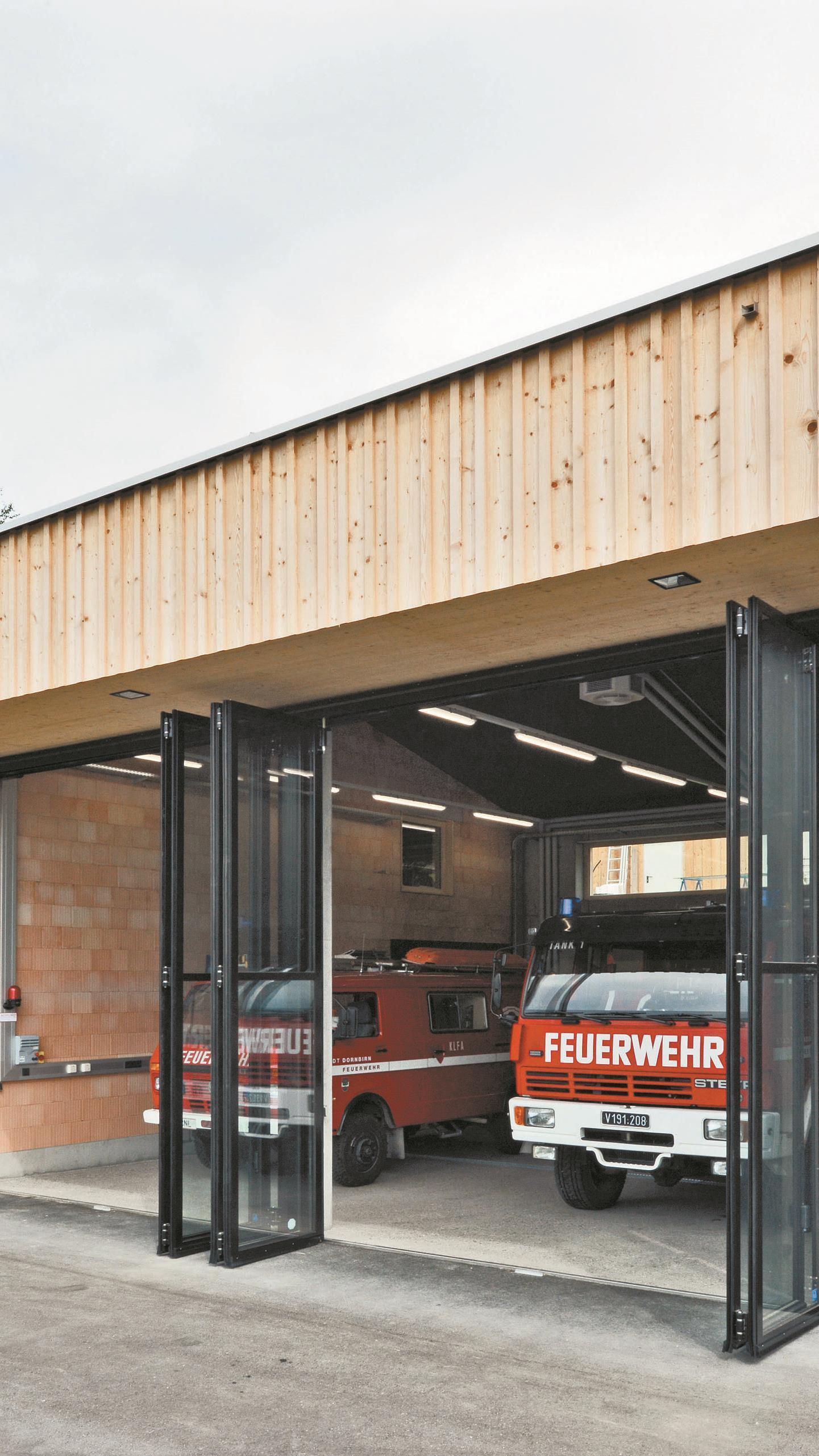 Das neue Feuerwehrgerätehaus ist schlicht, einfach und funktionell.