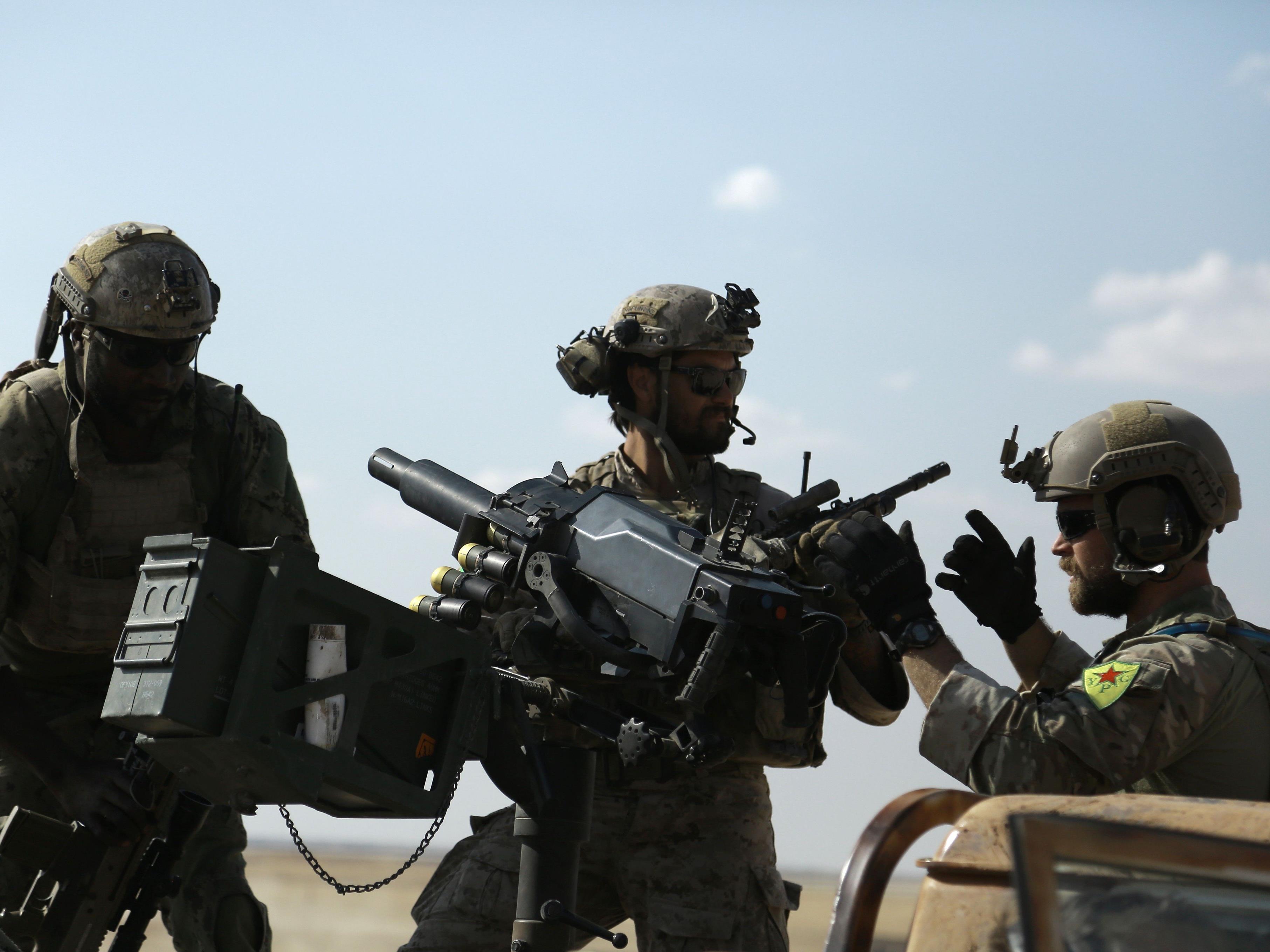 US-Spezialtruppen in Syrien.