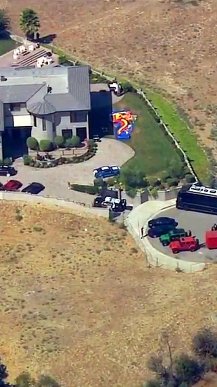 Das Anwesen von Chris Brown.