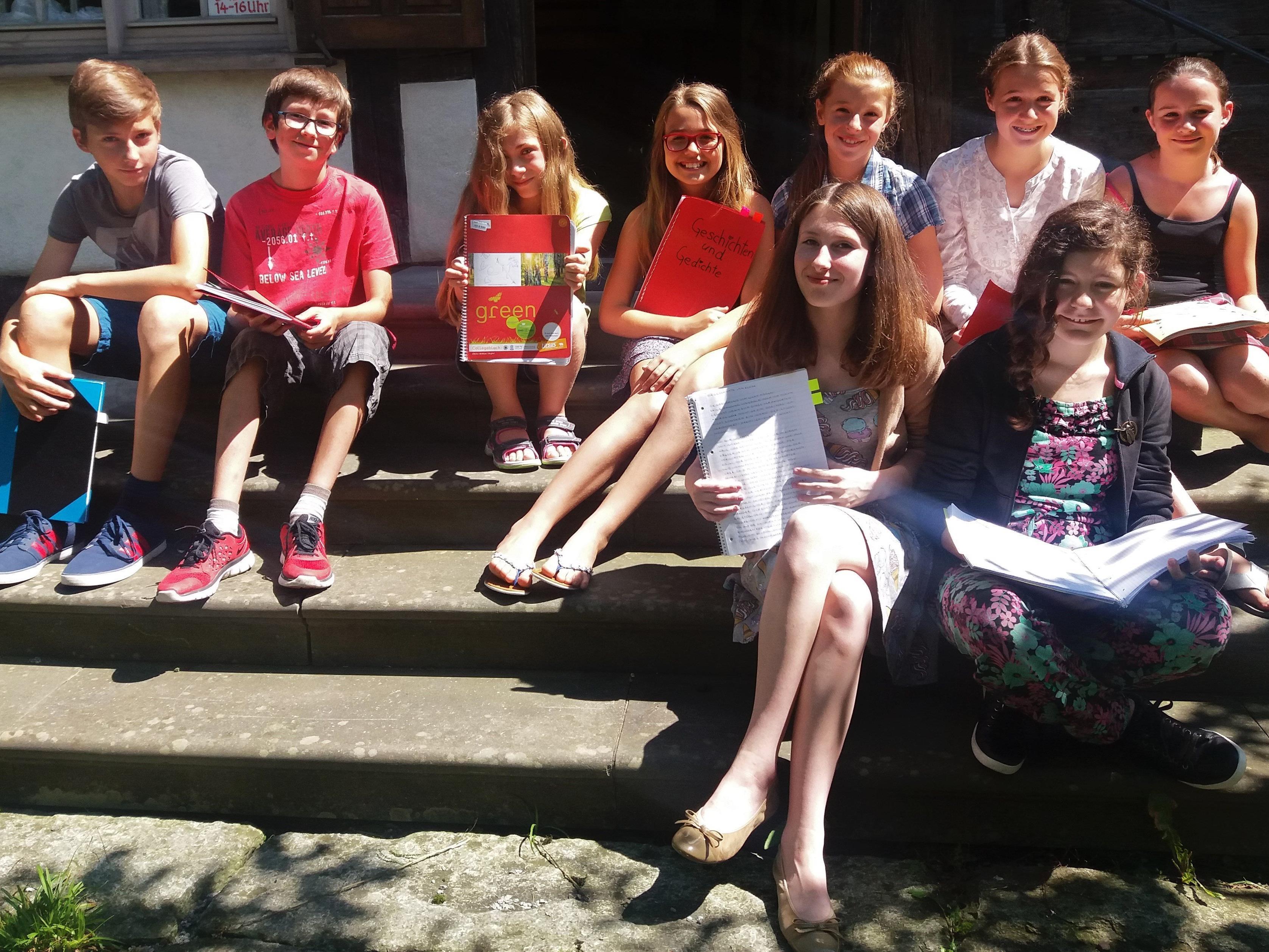 Jeden Sommer öffnet sich das Schlosserhus für das Kinder-Schreibhus.