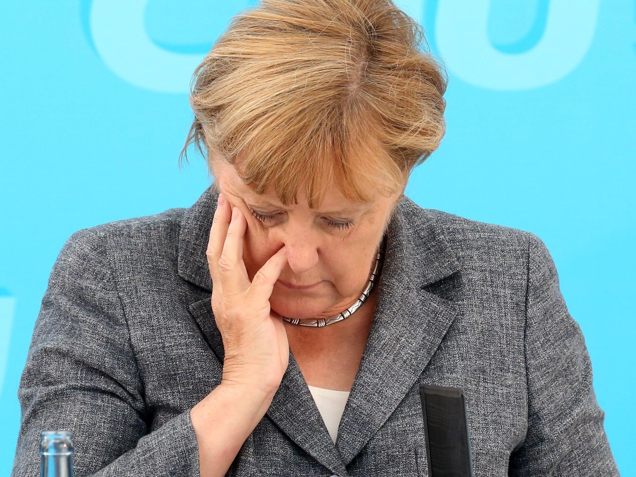 Angela Merkel bei der CDU-Wahlkampfveranstaltung