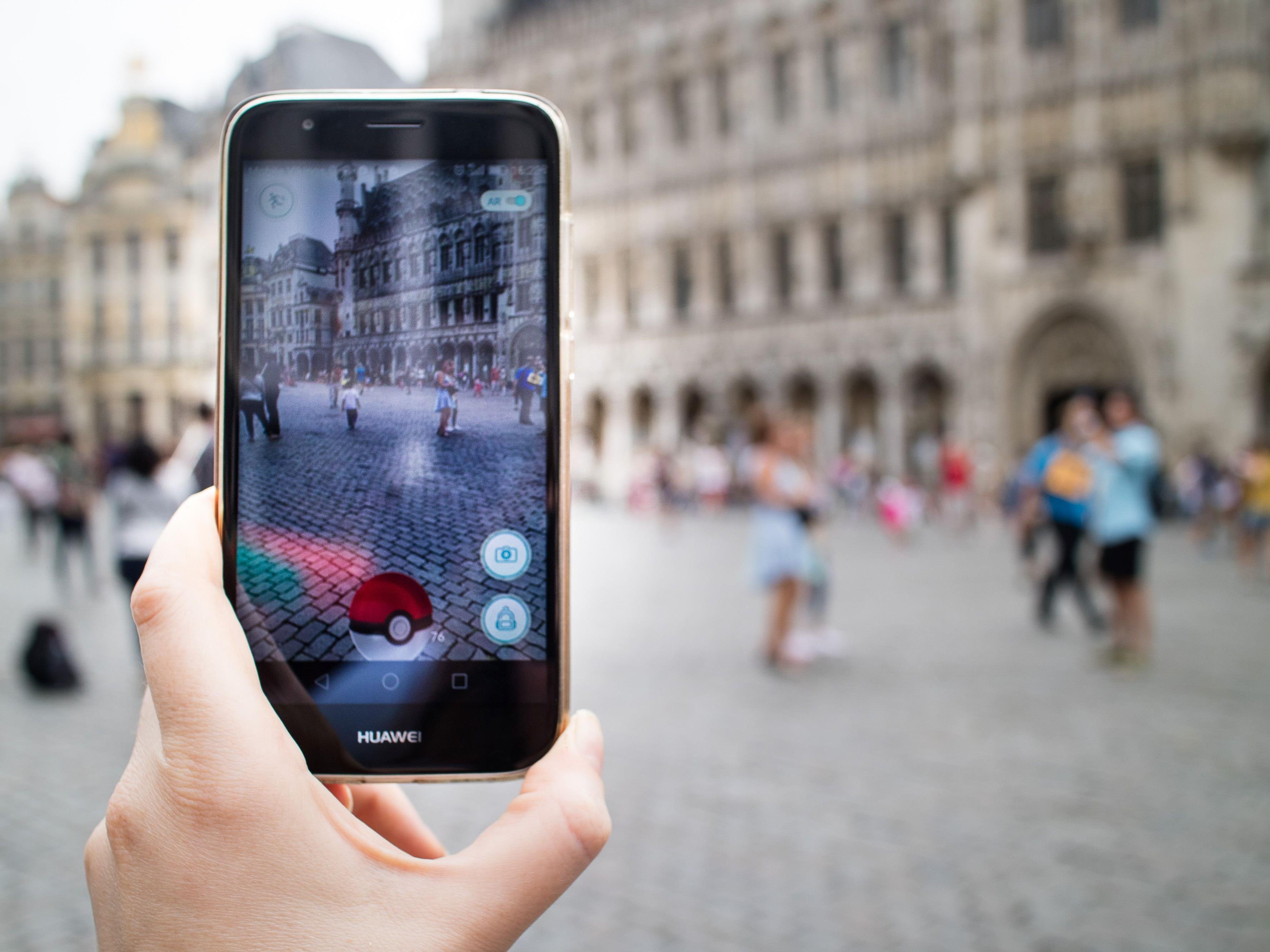 Pokémon Go in Brüssel.