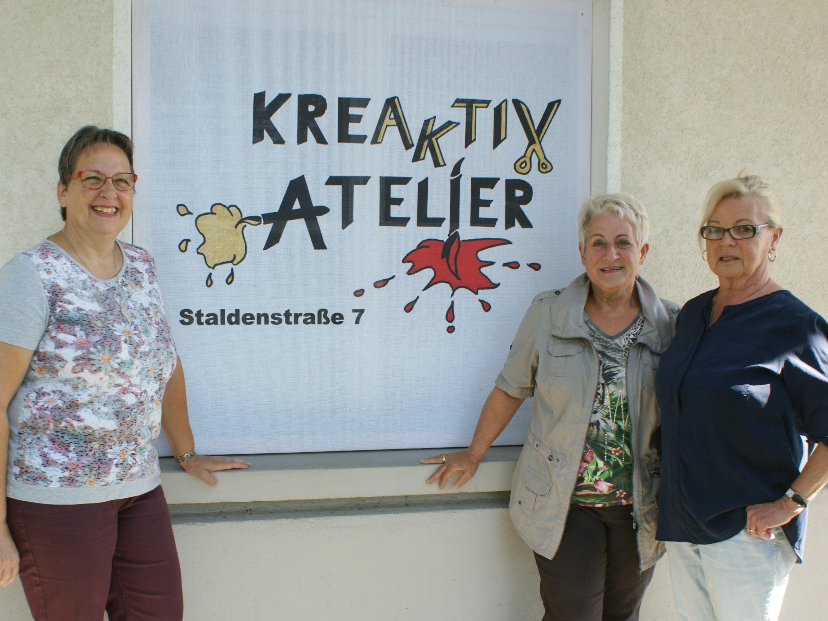 Das Kreaktiv-Team: Traudl König, Irmgard Gsell und Sylvia Albinger