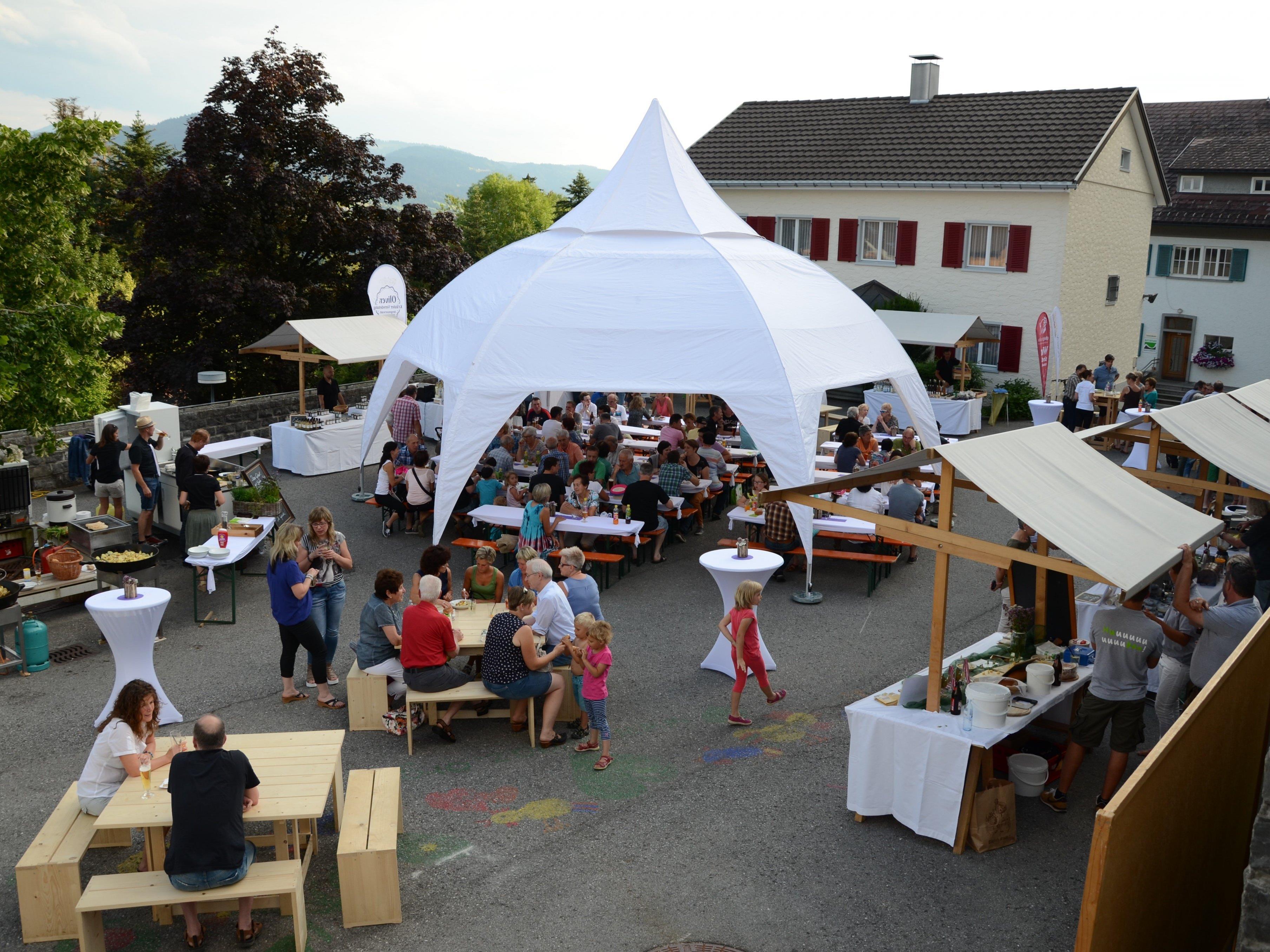 Der Dorfplatz in Doren ist bereit für die zweite Auflage von Doren | genießt am Freitag, 12. August