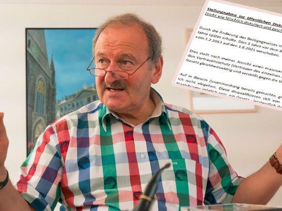 Hubert Gorbach nimmt Stellung zur Dikussion um die von ihm geforderten Ruhebezüge.
