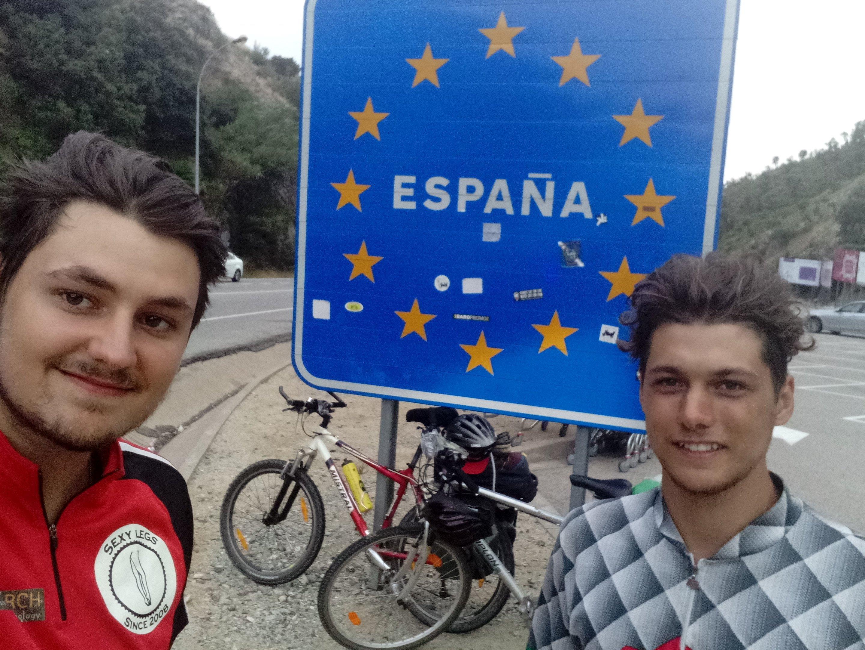 Daniel Luger und Nils Gutensohn - endlich in Spanien angekommen