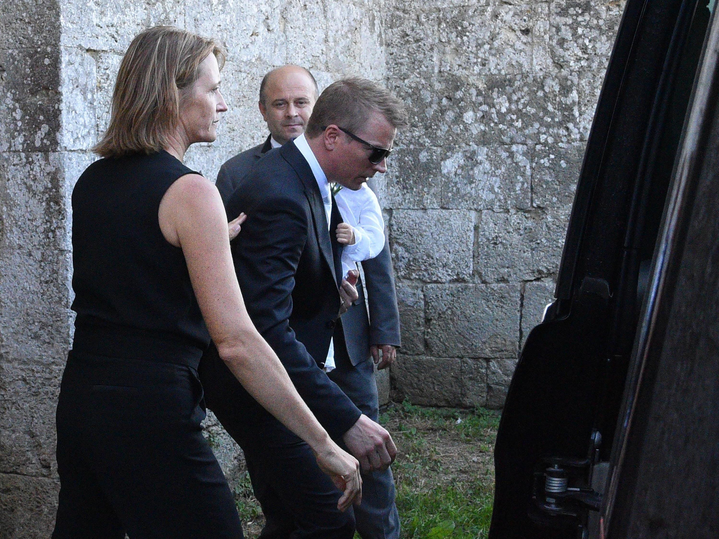 Räikkönen kurz vor seiner Hochzeit am Sonntag.