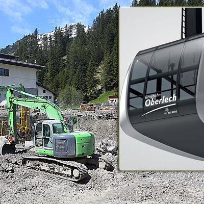 Steurer Seilbahnen aus Doren baut die neue Zubringerbahn zwischen Lech und Oberlech.