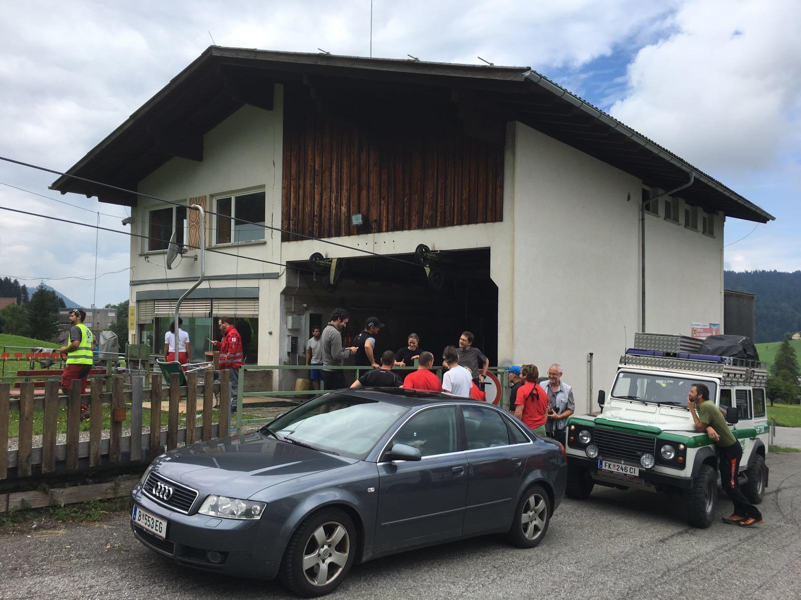 Die sechs Passagiere wurden zur Talstation zurückbefördert.