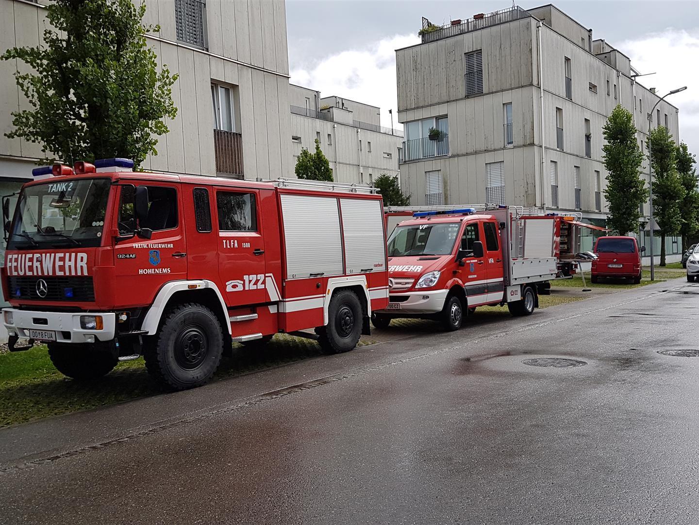 Die Feuerwehr in Hohenems musste 26 Mal ausrücken.