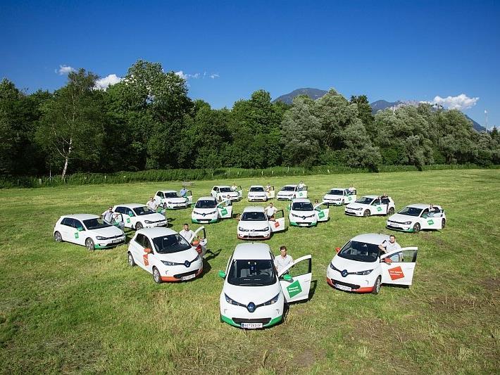 15 neue Elektroautos hat Tomaselli Gabriel Bau angeschafft – die größte private Flotte an Elektrofahrzeugen in Vorarlberg.