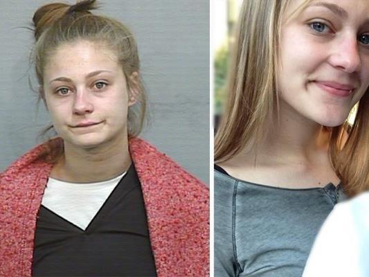 Im Vergleich: links das Knastfoto, rechts das Bild, das die 18-Jährige der Polizei geschickt hat.