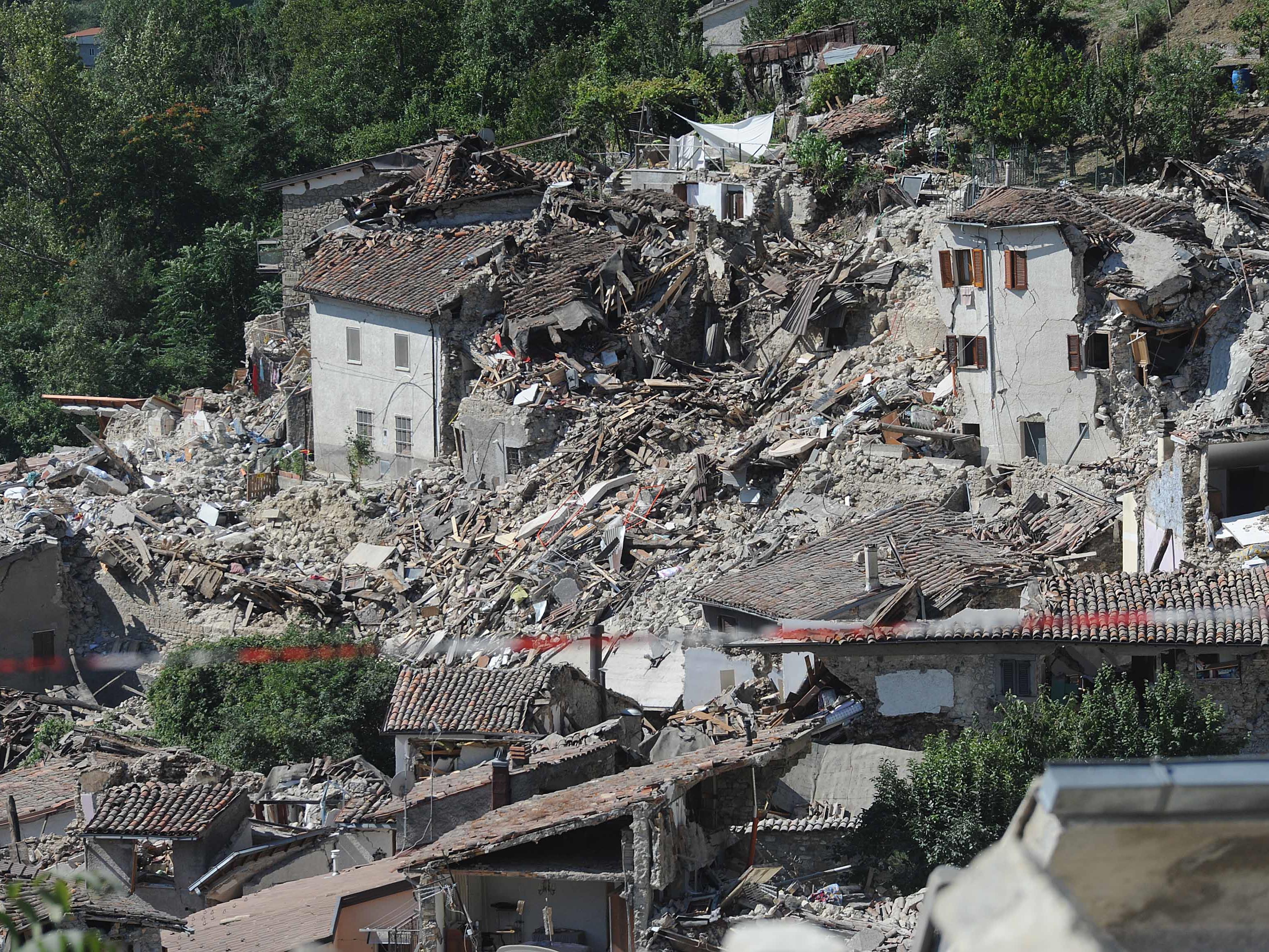 Auch die Ortschaft Pescara del Tronto wurde schwer getroffen