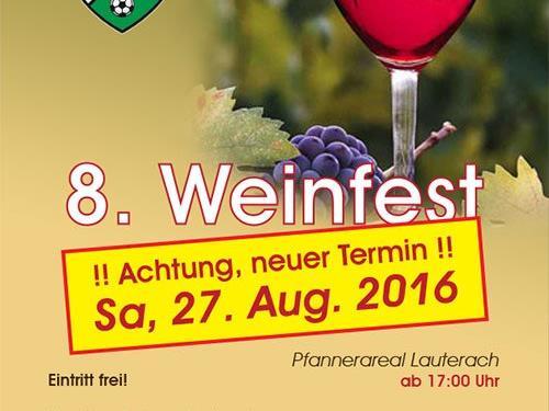 Weinfest auf den Sa, 27.8. verschoben
