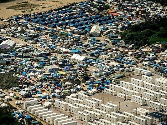 """Das Lager in Calais ist auch als """"Dschungel"""" bekannt"""
