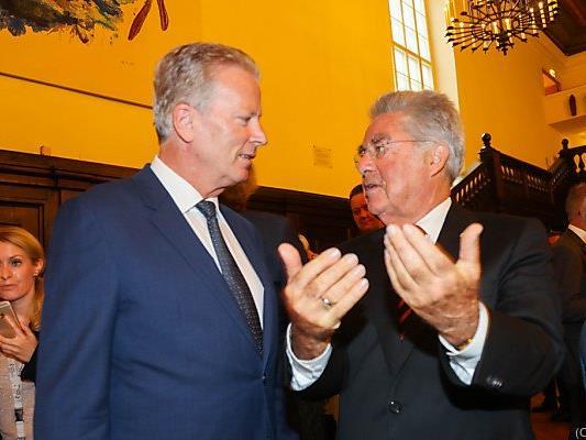 Der ÖVP-Chef mit Ex-Präsident Fischer