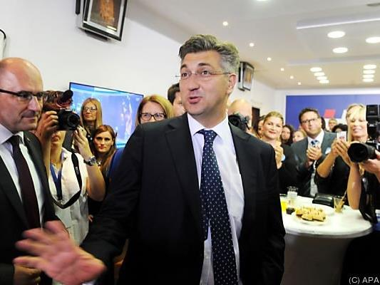 HDZ-Chef Plenkovic triumphiert