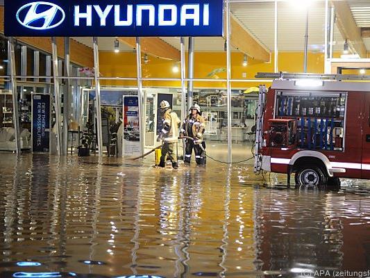 Am Samstagabend war es zu den Überschwemmungen gekommen