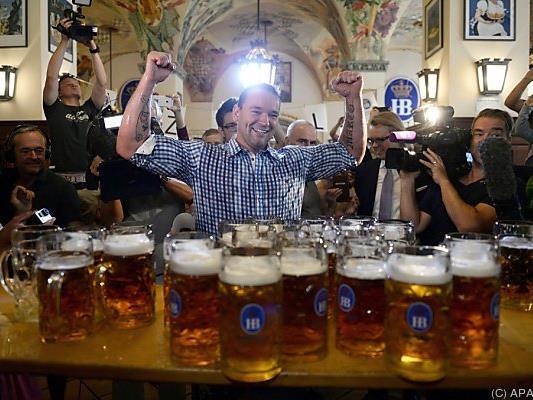27 Liter Bier und etliche Kilogramm Glas