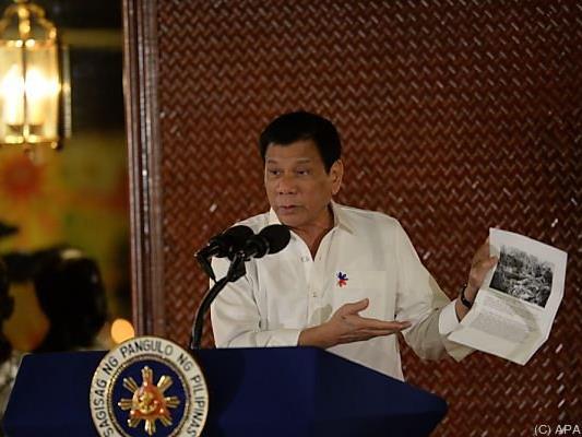 Duterte legt sich mit den USA an
