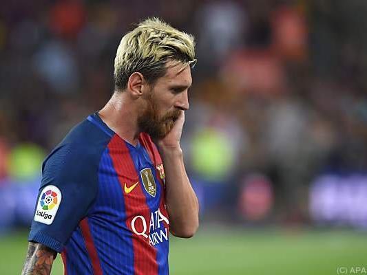 Barcelonas Superstürmer Lionel Messi sah schon glücklicher aus