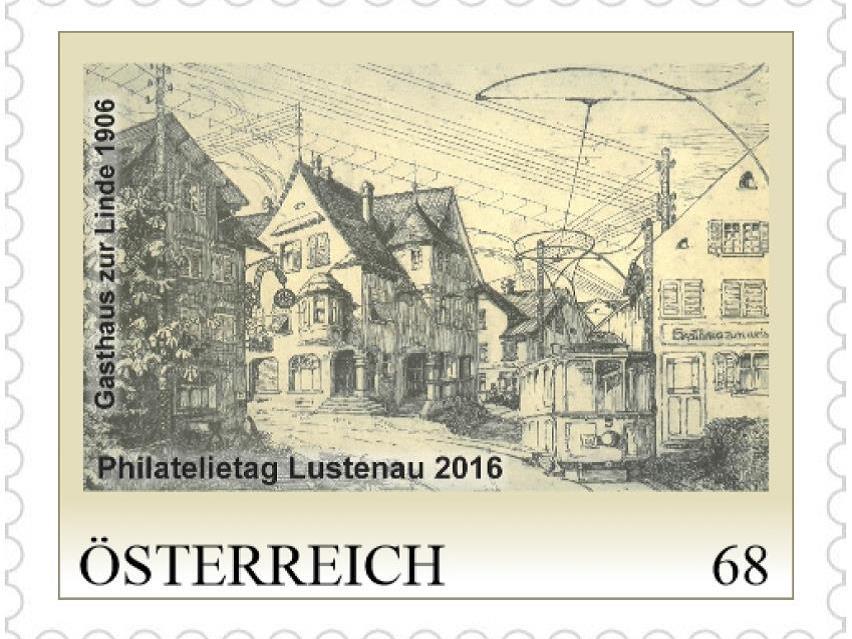 Verschiedene Briefmarken sind zur Zeit im Reichshofsaal ausgestellt.