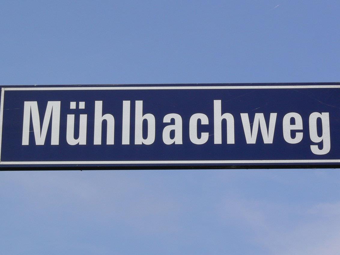 Mühlbachweg in Rankweil