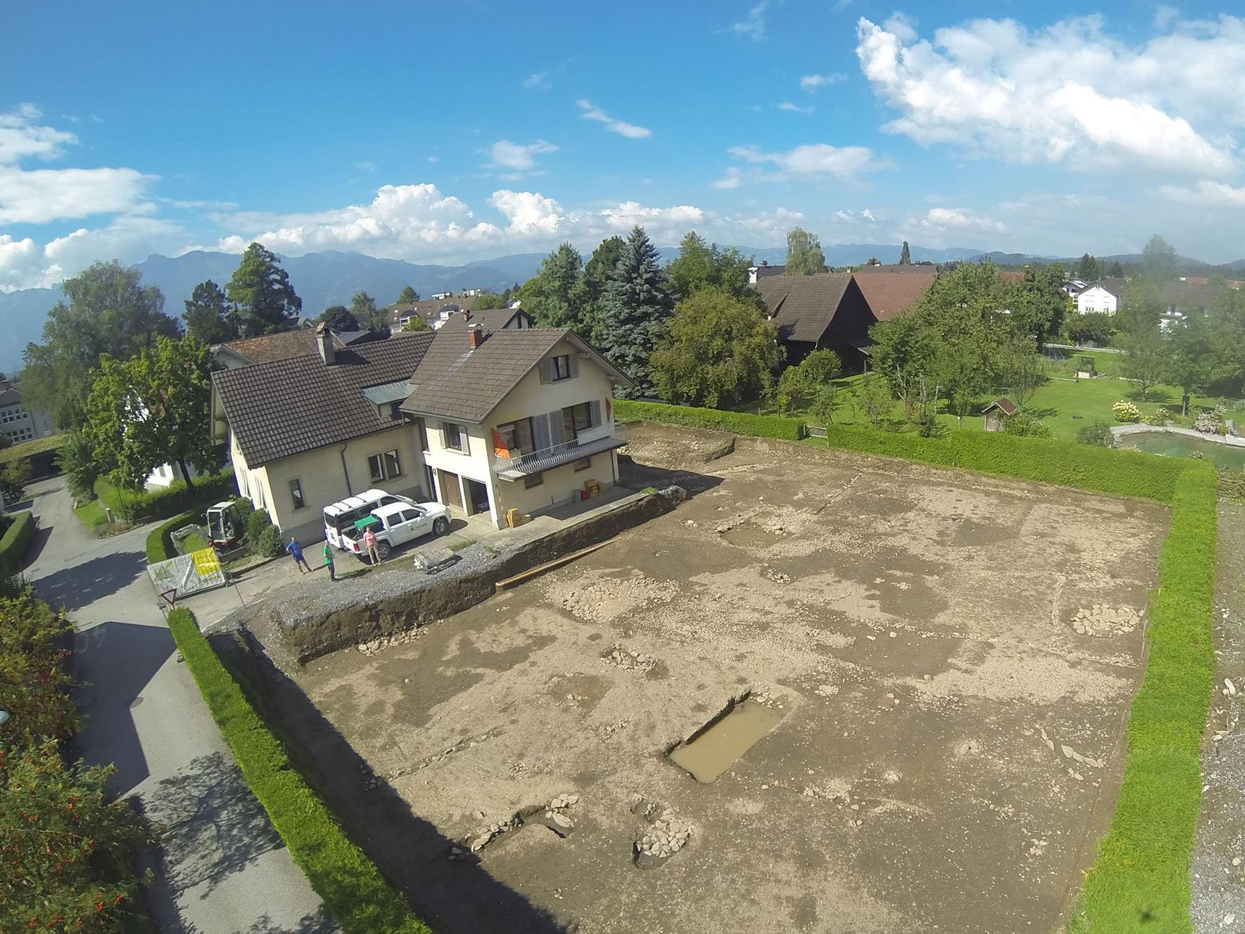 Ausgrabungsstätte Ecke Monfortstraße/Fridolinsgasse
