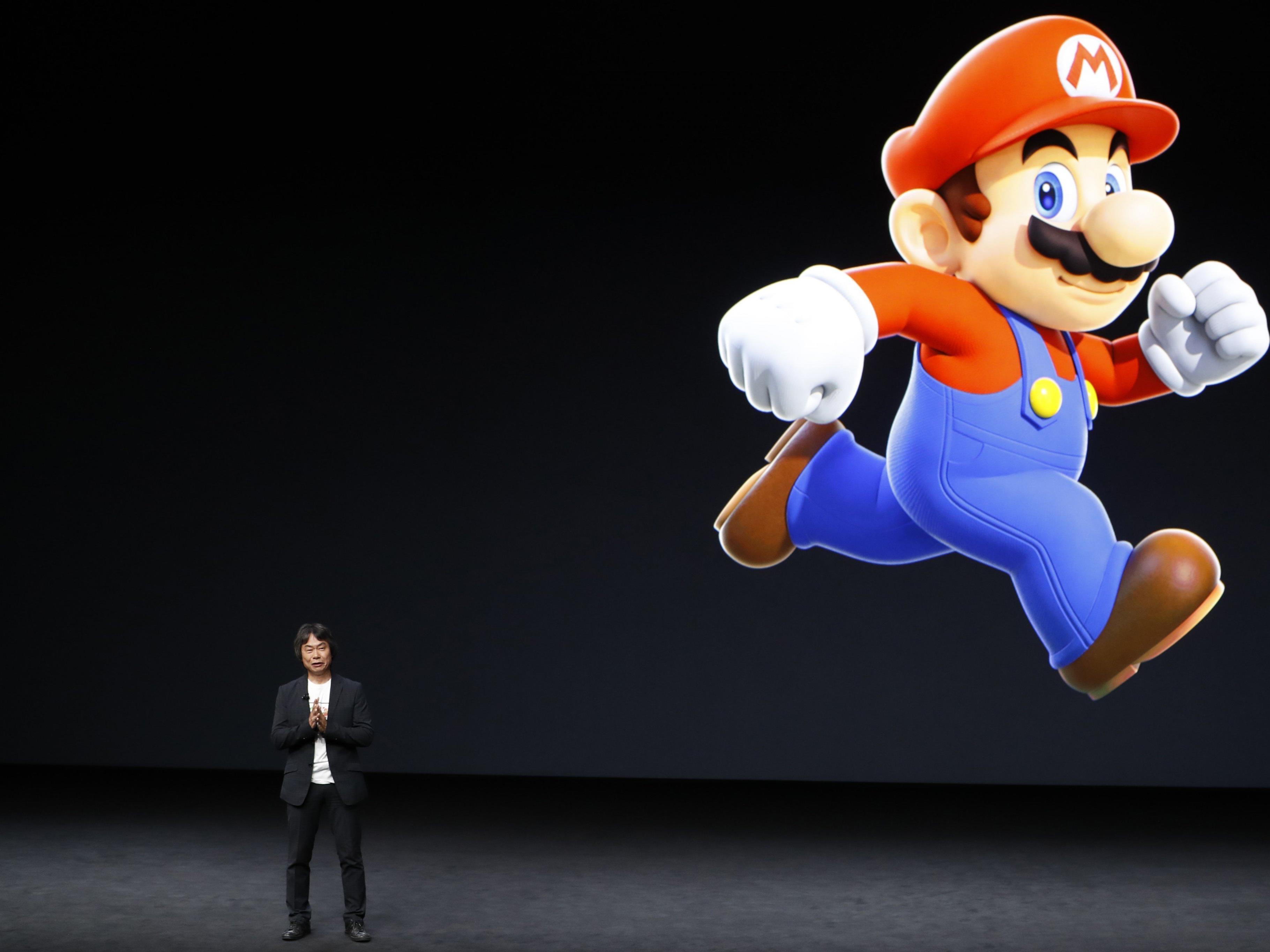 Auch Super Mario gehört bei Apple jetzt dazu.