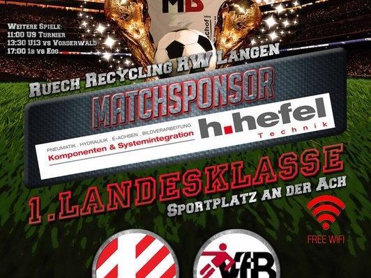 Flyer RW Langen vs VFB Bezau