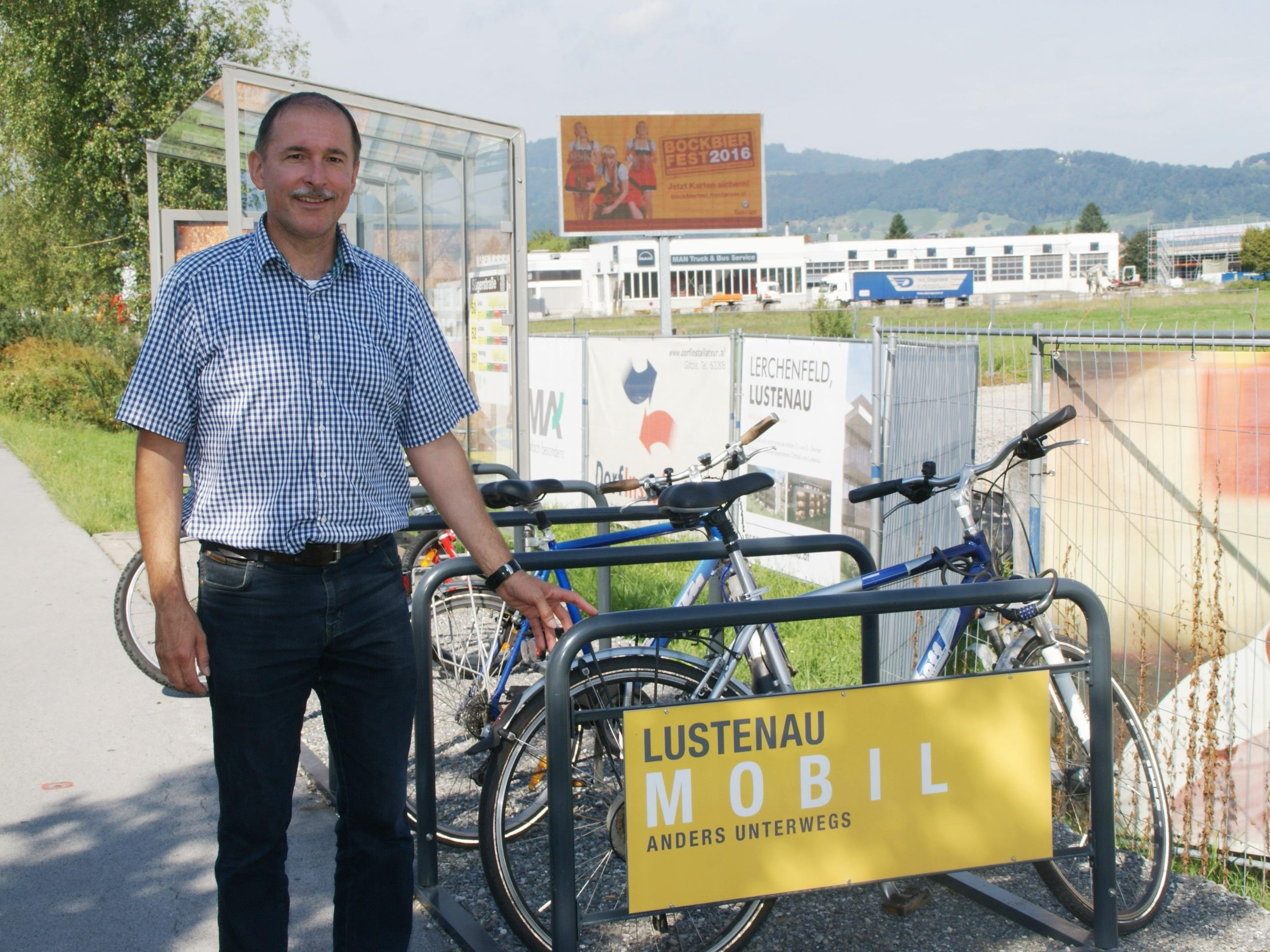 Lustenau rüstet auf mit Radabstellplätzen