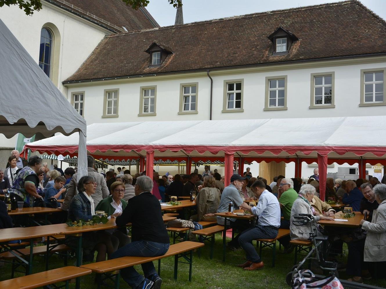 Das neue Ambiente im Klosterhof gab dem Fest einen besonderen Rahmen.
