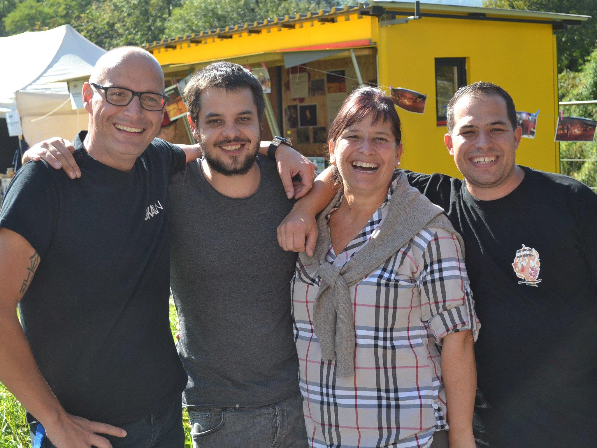 Die Organisatoren von `güxla´: Oliver Wellschreiber, Thomas Glinik, Kornelia Spiß und Marcel Maister.