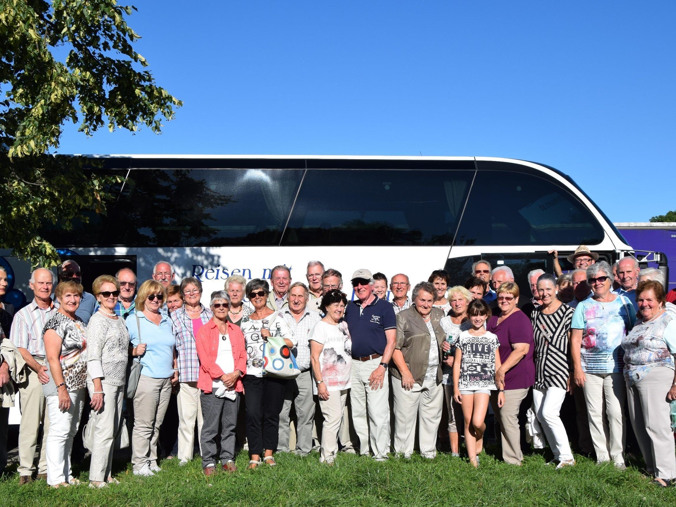Sichtlich wohl fühlten sich die Mitglieder des Verschönerungsvereins beim Ausflug nach Baden-Württemberg.