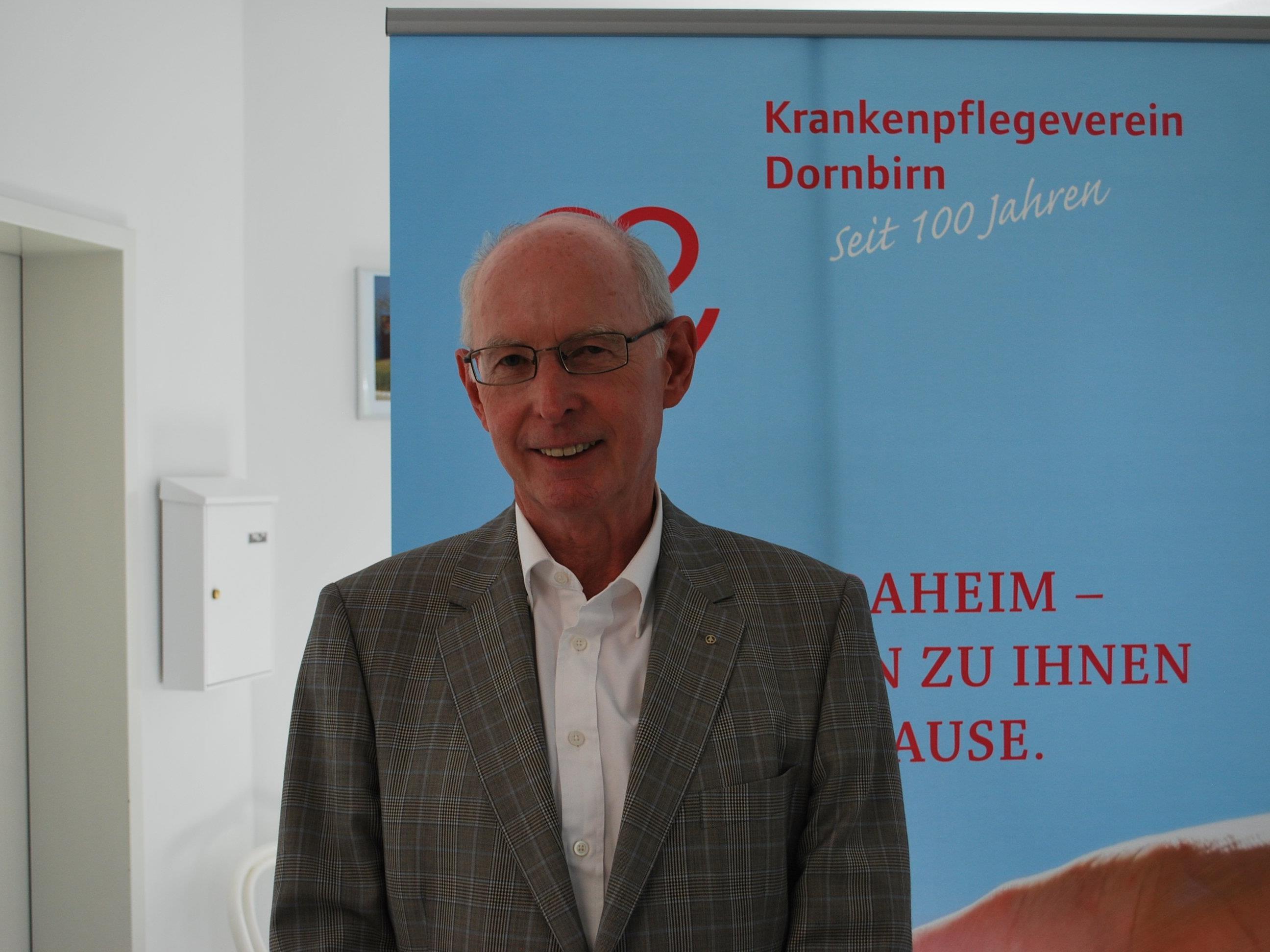 Heinz Wohlgenannt, Obmann des Krankenpflegevereins Dornbirn, lädt ein zur 103. Generalversammlung.