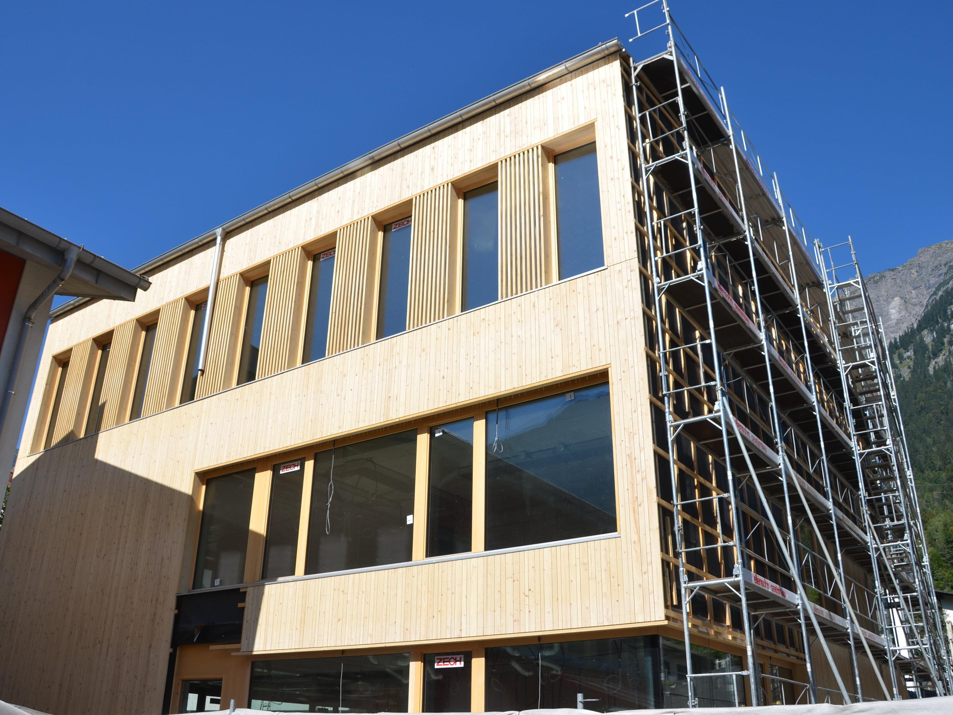 Gemeindezentrum Innerbraz Baufortschritt September