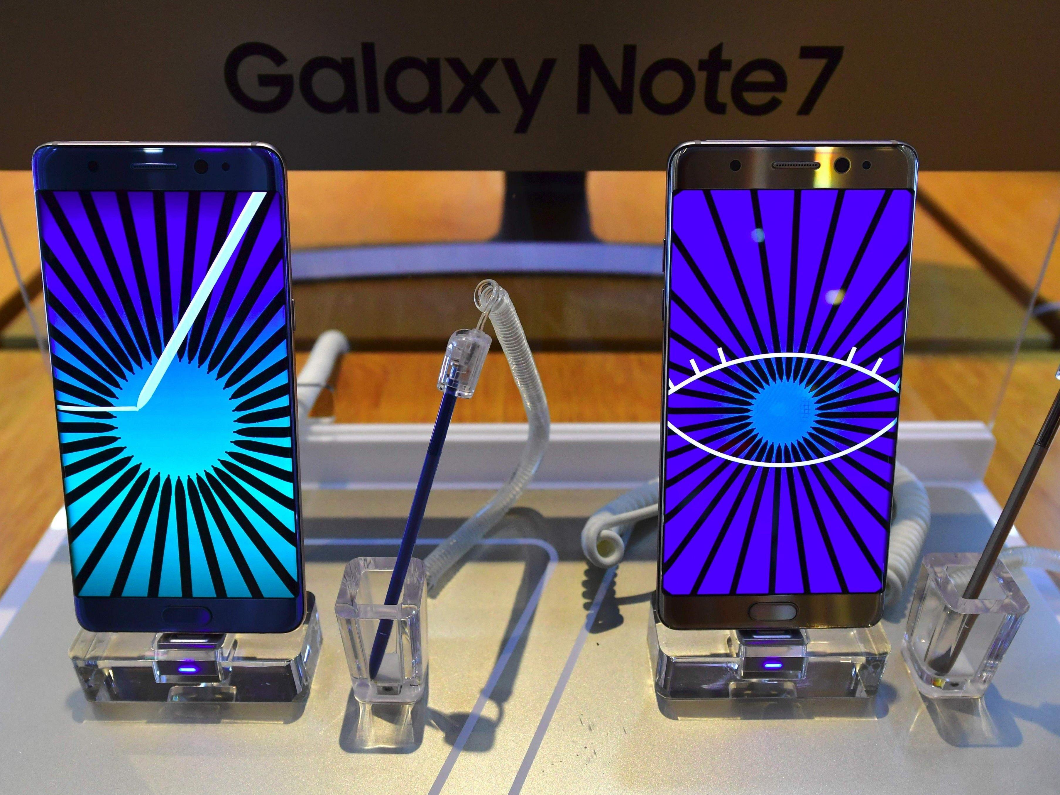 Das neue Galaxy Note 7 wird zurückgerufen
