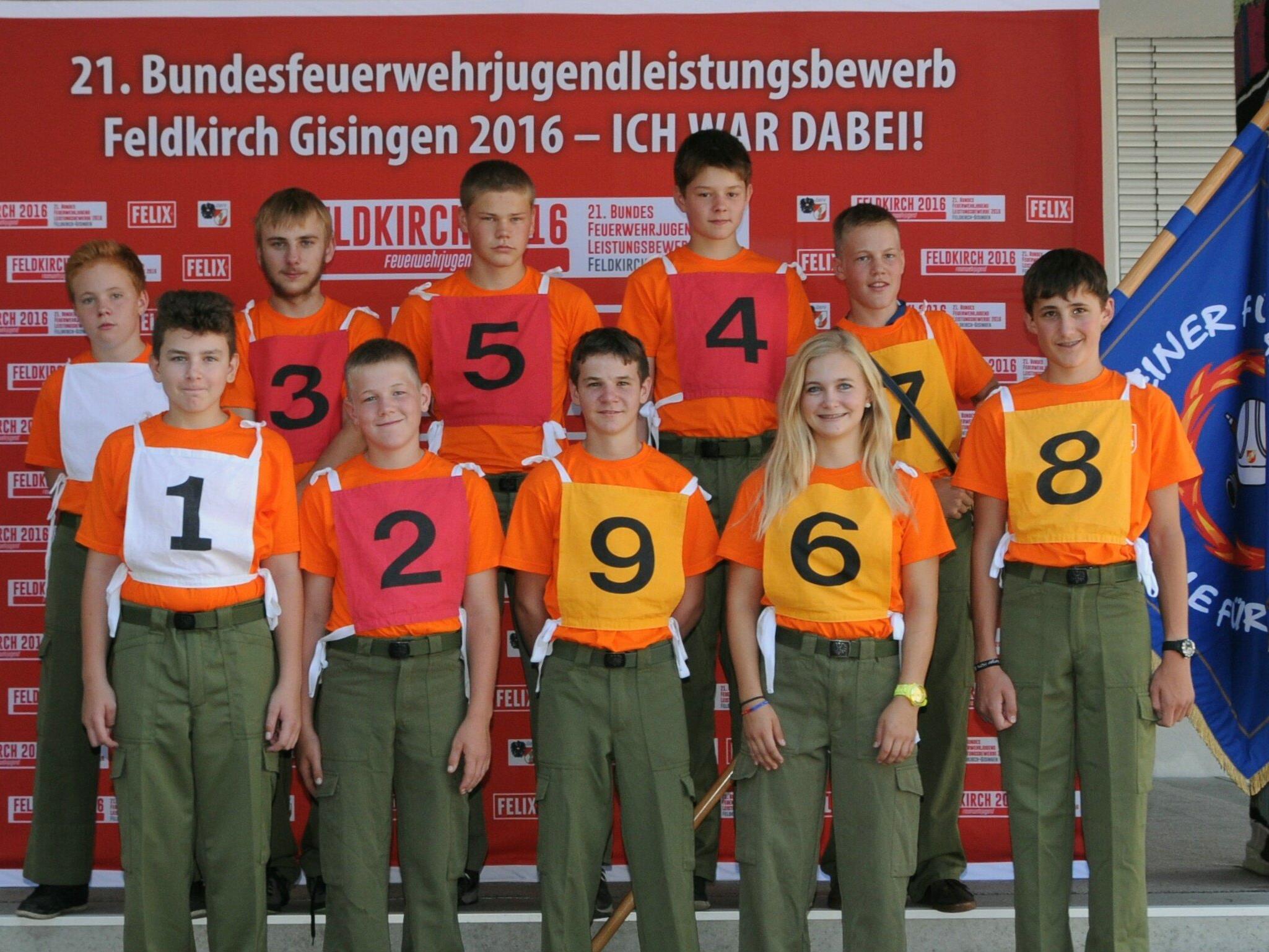 Bundesfeuerwehrjugendleistungsbewerb  in Feldkirch-Gisingen 2016
