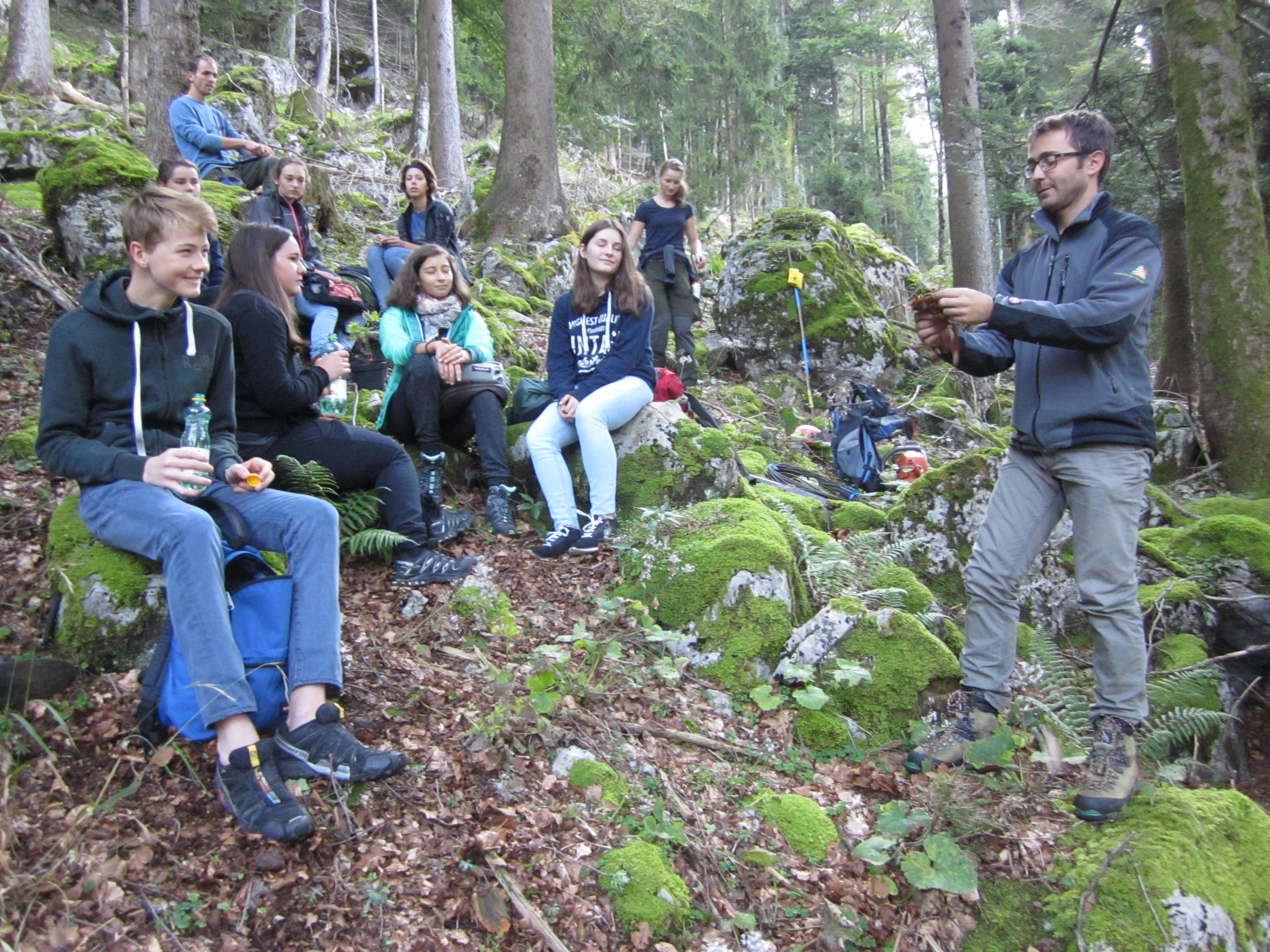 Waldpädagoge Christian Natter bot den jungen Zuhörern interessante Einblicke.