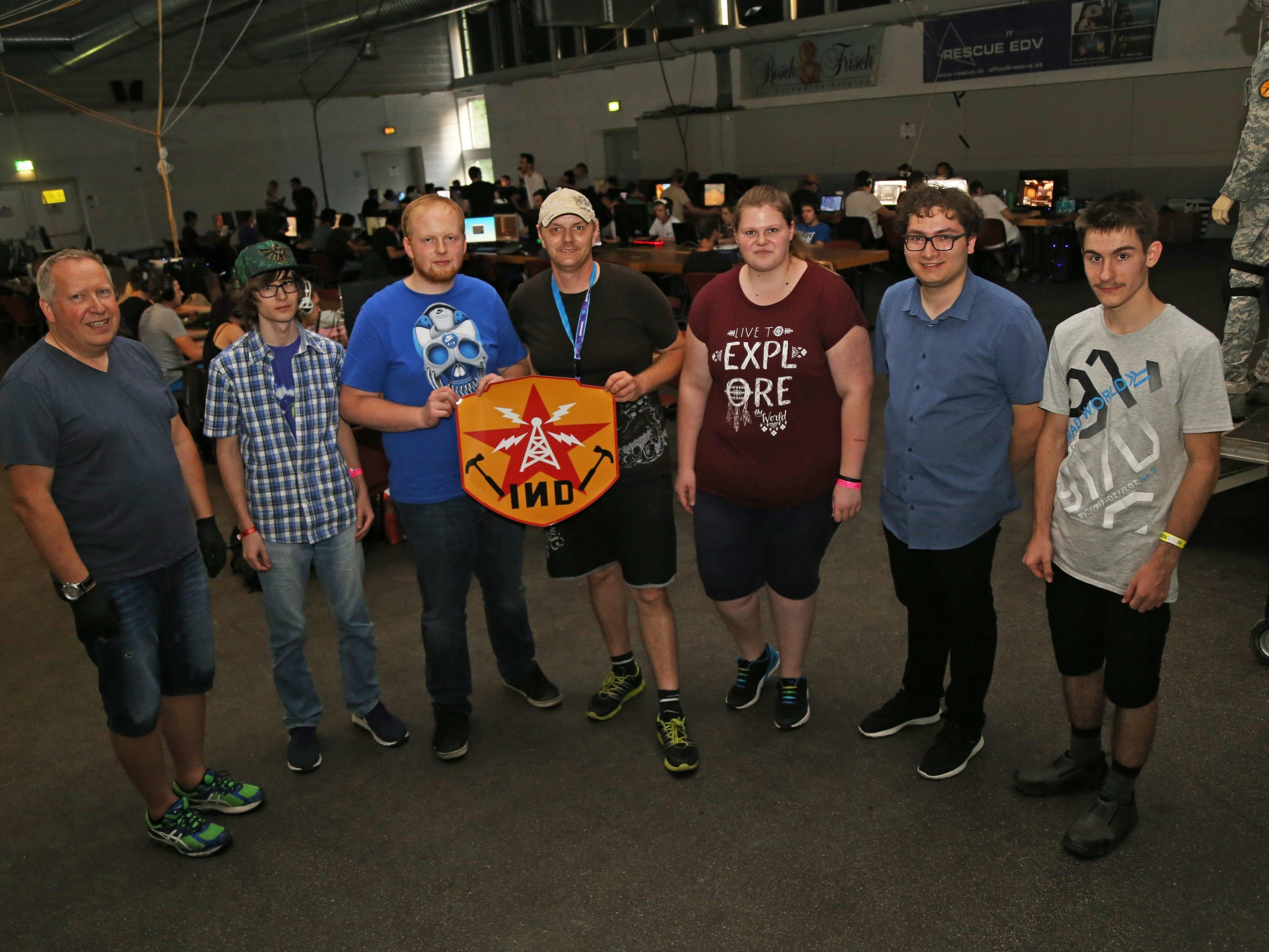 """Die Mitglieder der """"INDustrie Gaming"""" organisierten die größte LAN-Party Vorarlbergs."""