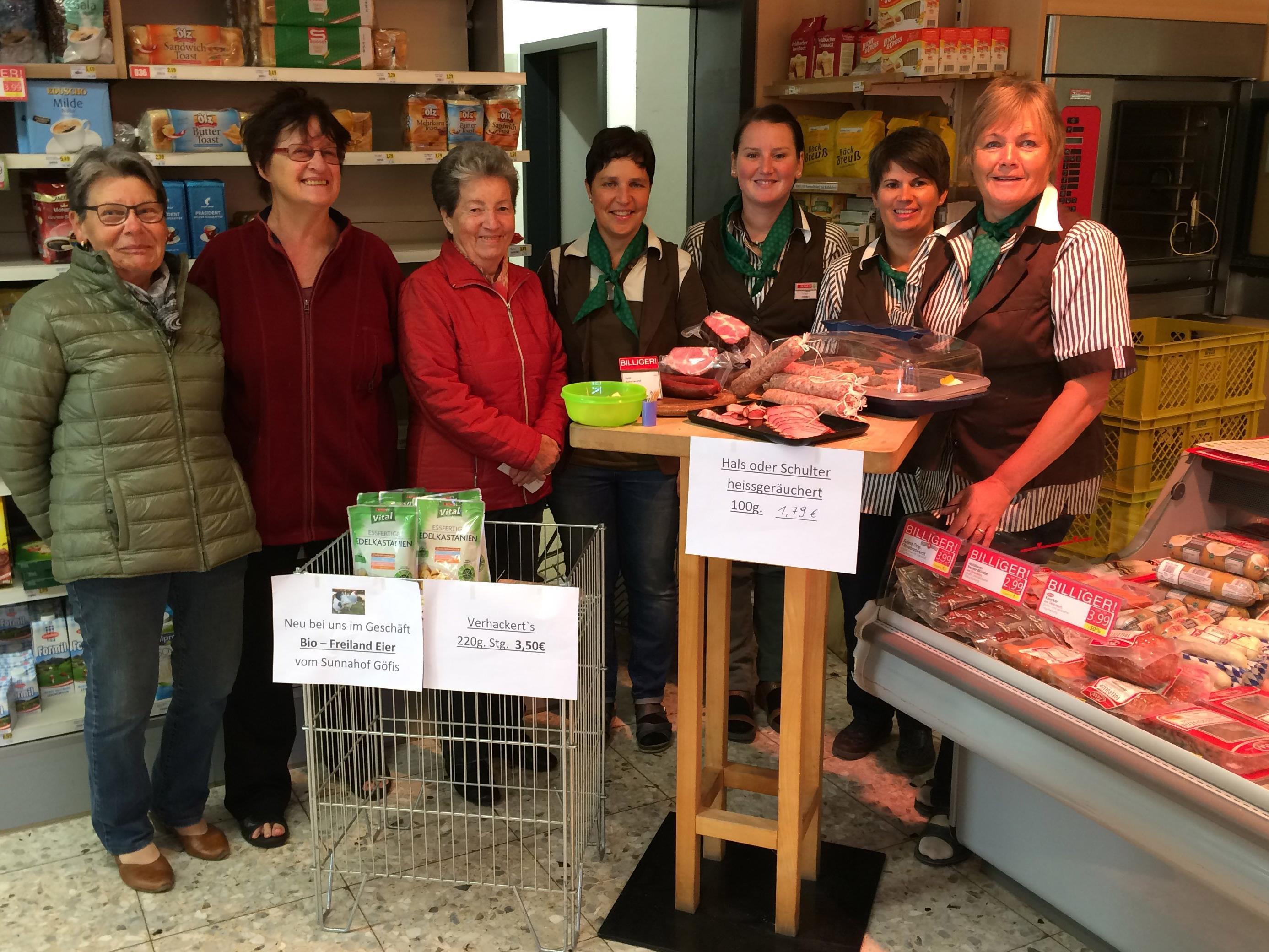 Am Samstag wurden im Dorfladen in Übersaxen regionale Produkte verköstigt.