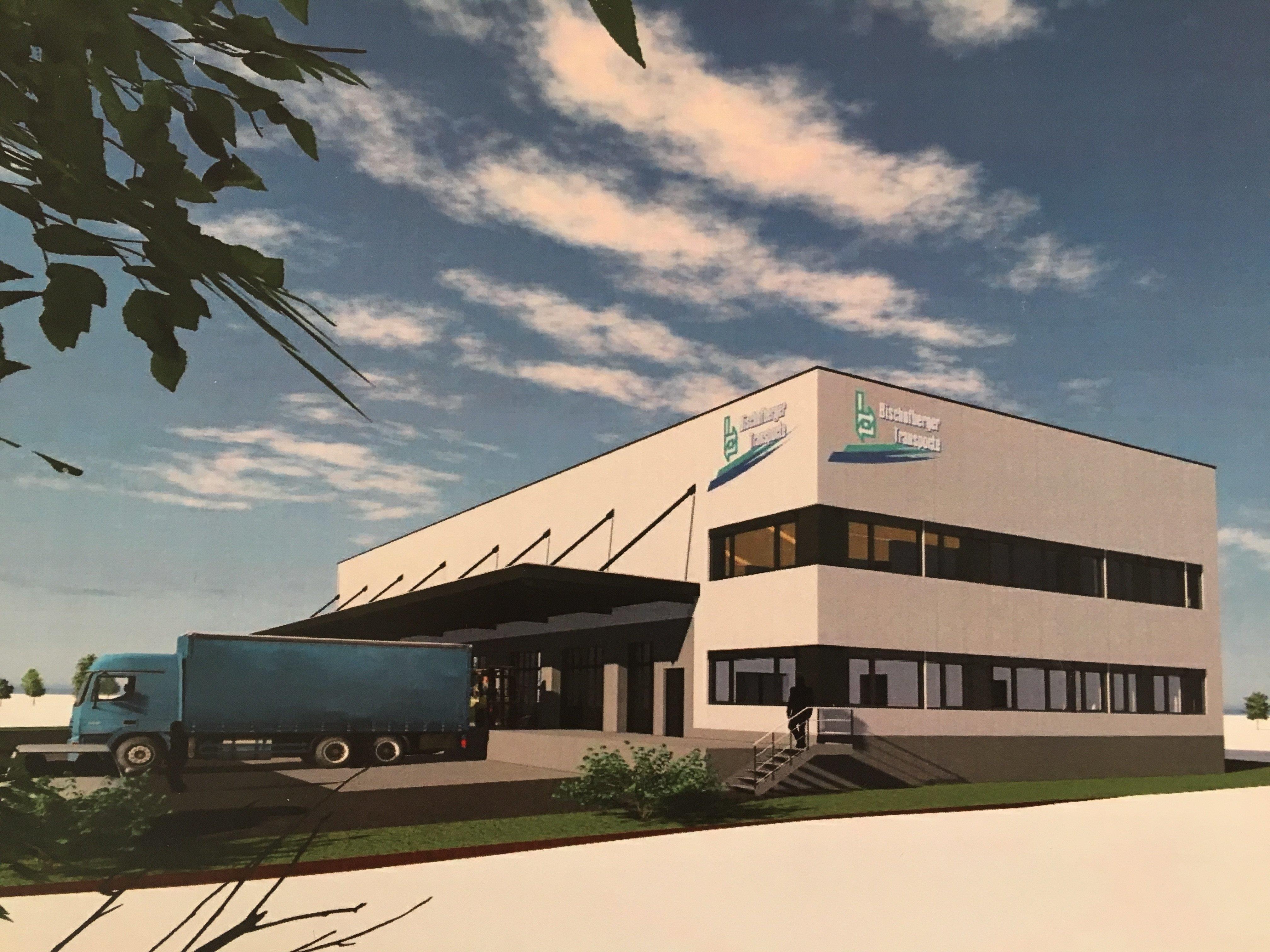 in Schwarzach entsteht eine neue Güterumschlaghalle für den Familienbetrieb Bischofberger Transporte.