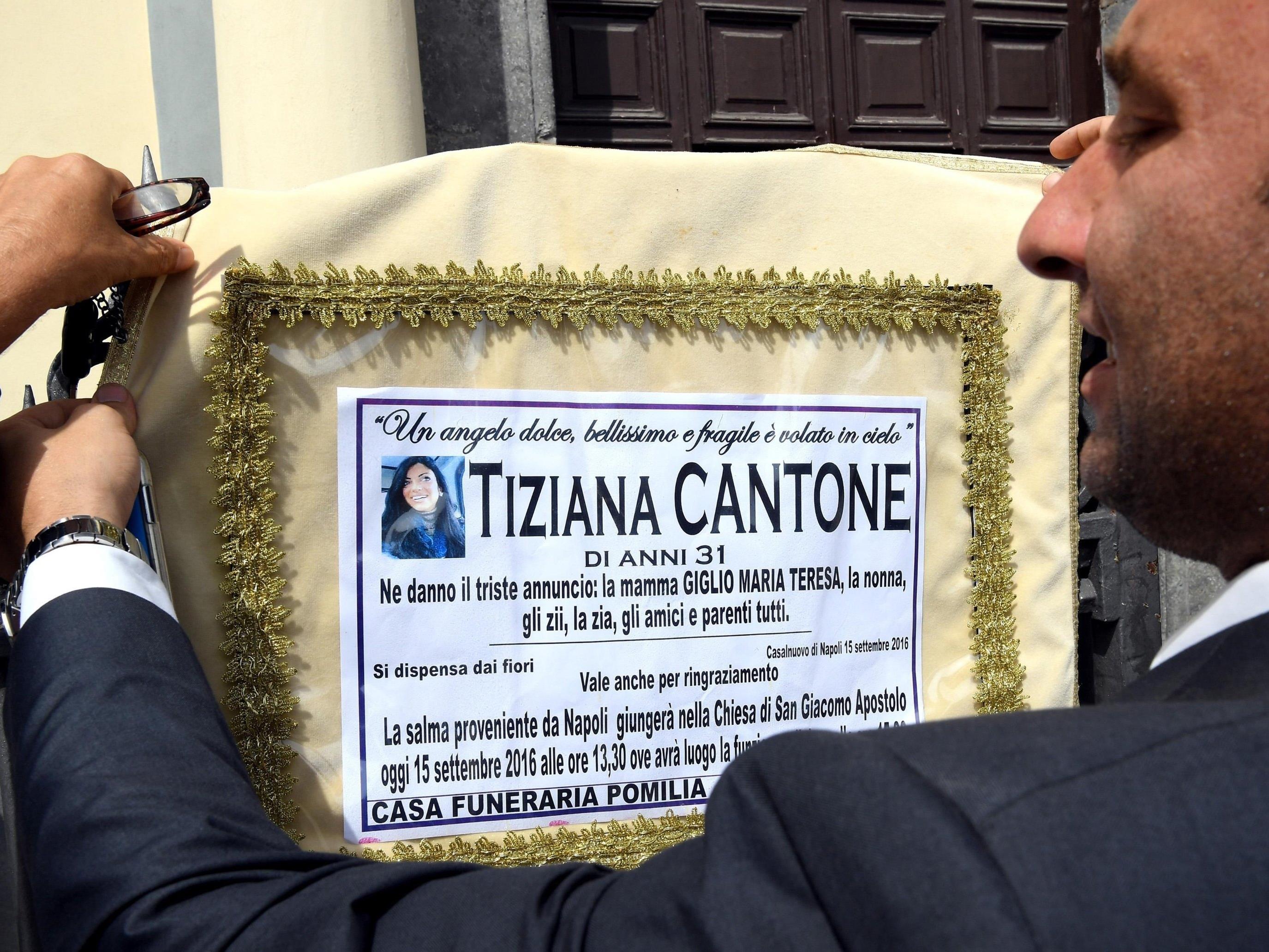 Die 31-jährige Tiziana Cantone erhängte sich, weil sie die öffentliche Demütigung nicht mehr ertrug, nachdem ein Sexvideo von ihr im Netz veröffentlicht wurde.