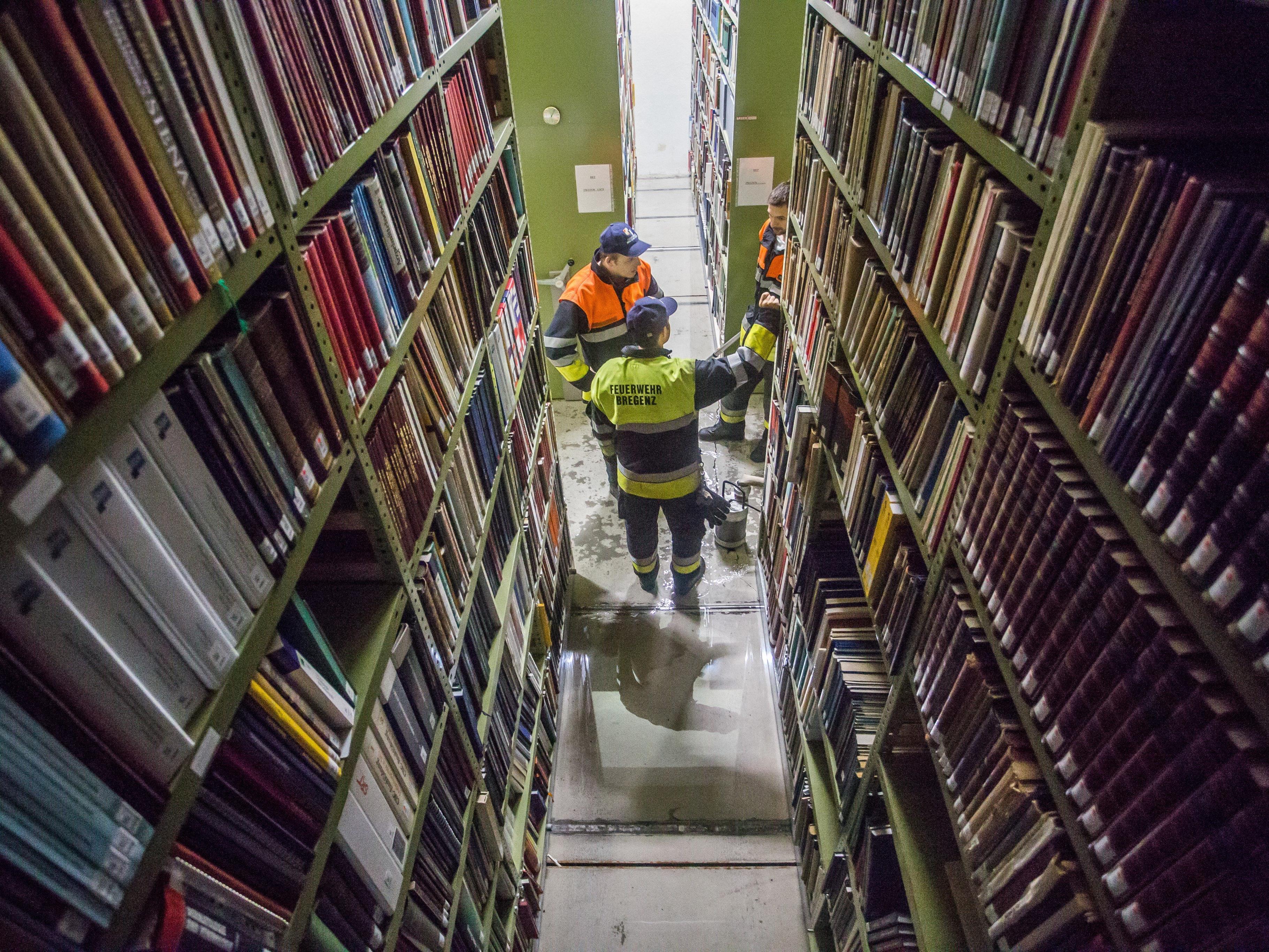 Nach dem Wassereinlauf in die Landesbibliothek wird wieder über einen Umbau diskutiert.
