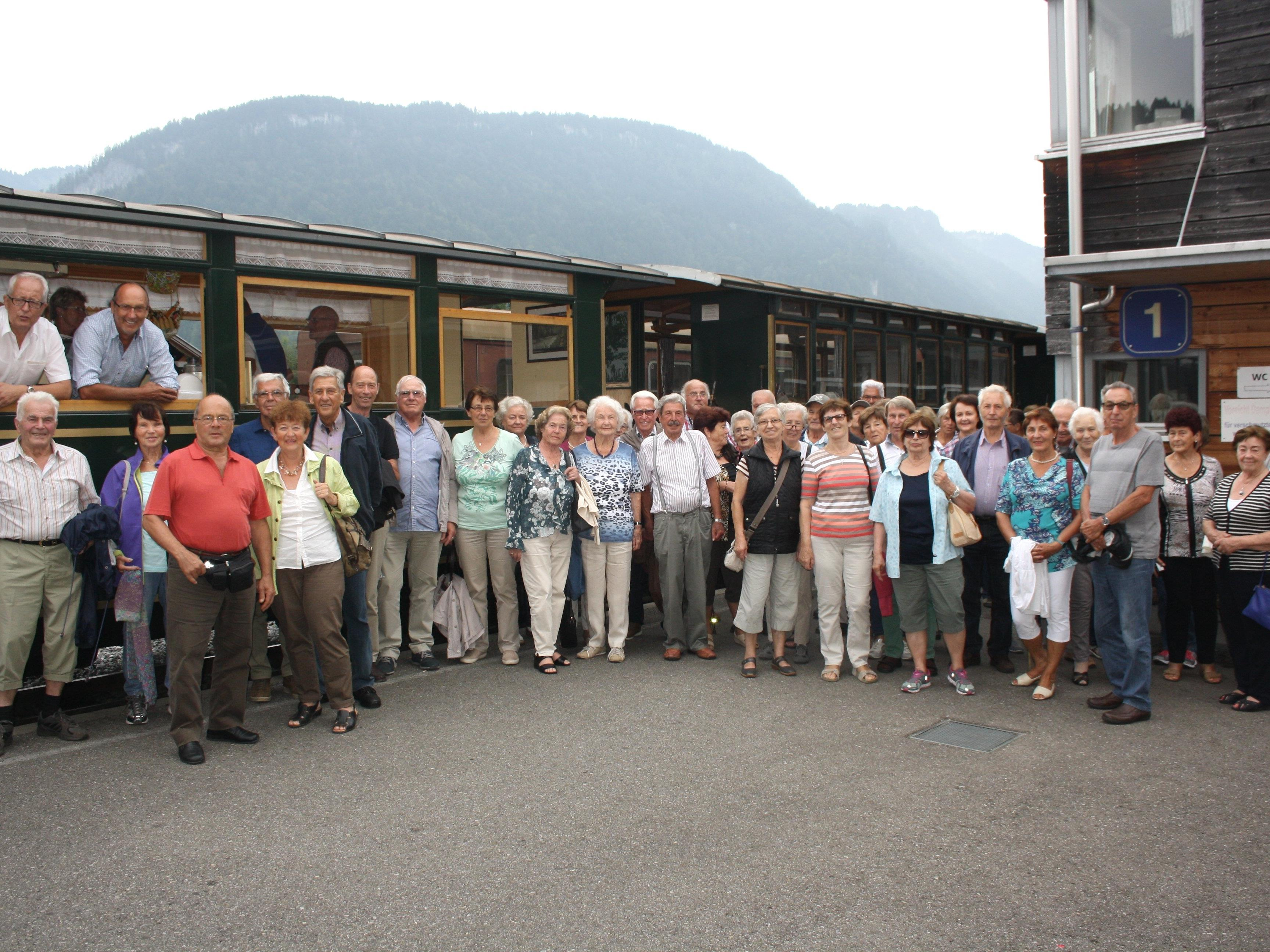 Die Gemeinde Lochau lud ihre Senioren zum alljährlichen traditionellen Ausflug, mit einer Wälderbähnle-Fahrt als besonderem Highlight.