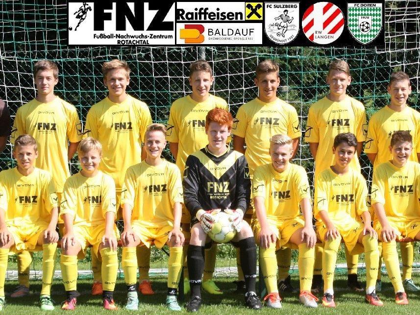 Mannschaftsfoto FNZ Rotachtal U16