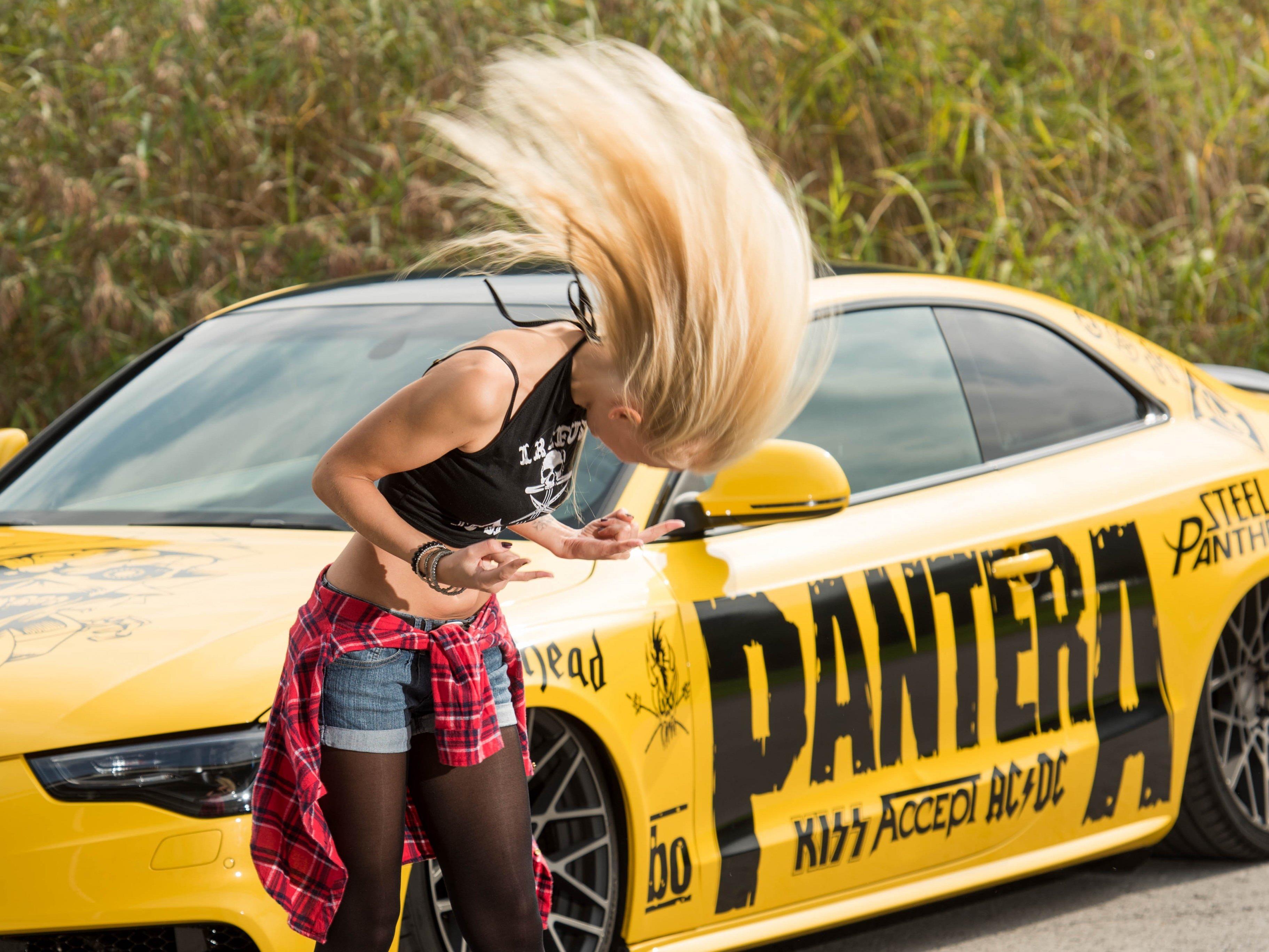 """Der gelbe Audi von Markus Prietl ist eine wahre """"Heavy Metal Machine""""."""