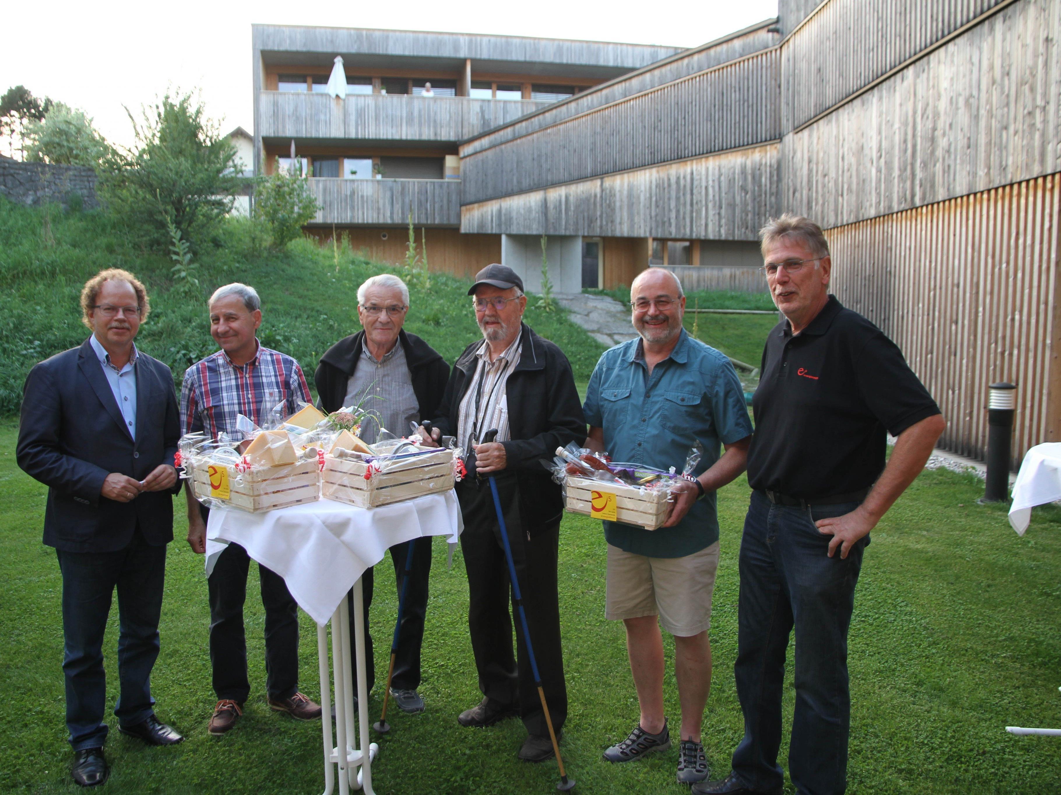 In Sachen e5 sehr aktiv: Florian Kasseroler, Raimund Zaggl, Bruno Hummer, Ehrenfried Graß, Johann Haas und Herbert Greußing.