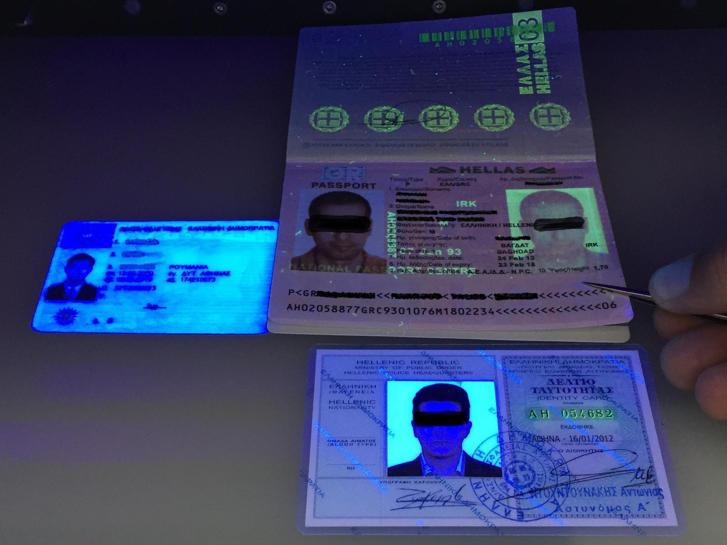 Grenzwächter fanden unter anderem gefälschte Führerscheine und Identitätskarten
